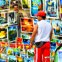 "Cuban ""russian"" painting vendor"