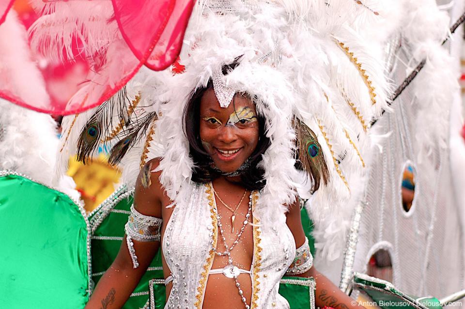 Toronto Caribana white costume