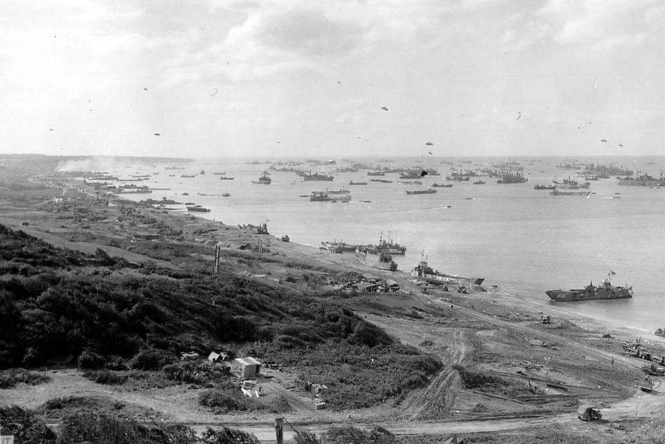 D-day Omaha Beach landscape