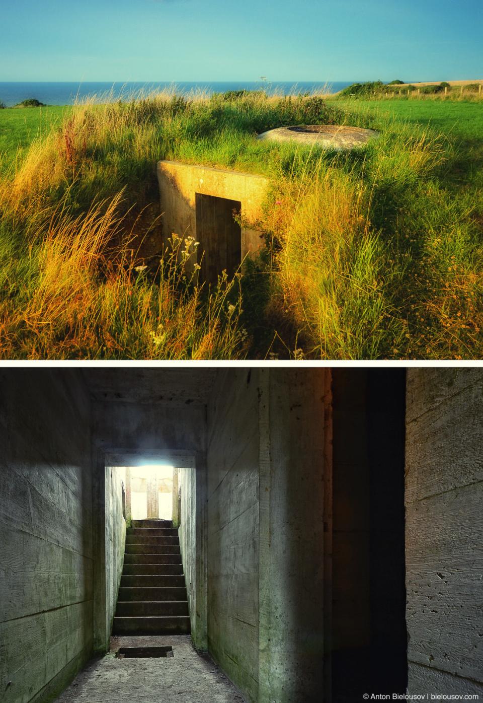 Omaha Beach german bunker