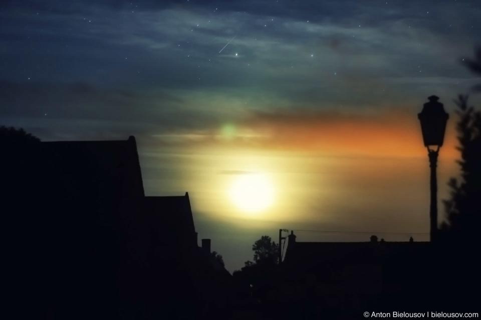 Звездное небо в Colleville-sur-Mer
