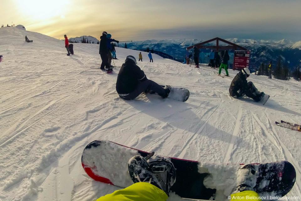 Snowboarding at Whistler