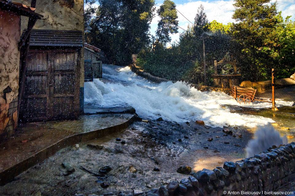 Old Mexico Flood at Universal Studios Backlot, Hollywood, CA