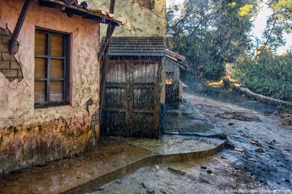 Old Mexico Rain at Universal Studios Backlot, Hollywood, CA
