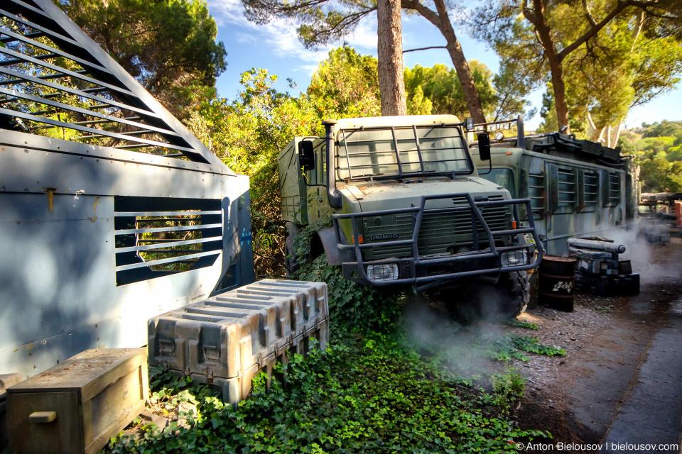 Transformers Trucks at Universal Studios Backlot, Hollywood, CA