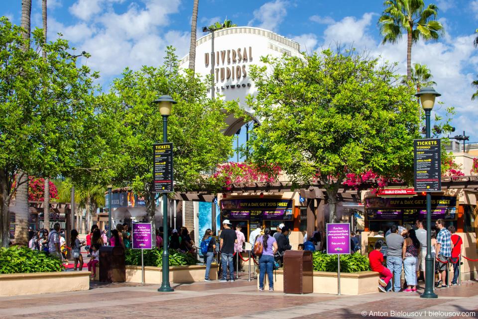 Вход на студию Universal (Hollywood, CA)