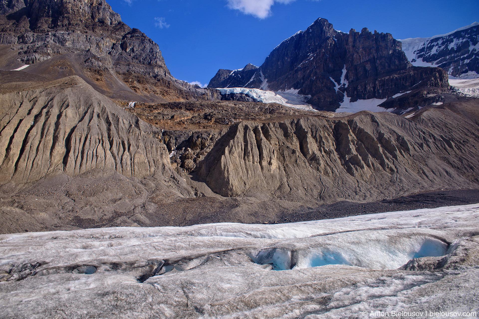 Athabasca Glacier contributing glacier at Andromeda Mountain, Columbia Icefield, Jasper National Park